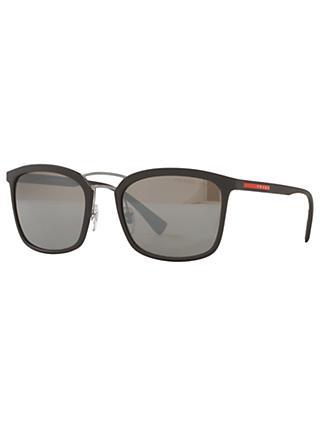 0a348a100b40 Prada PS 03SS Polarised Square Sunglasses, Matte Brown/Grey