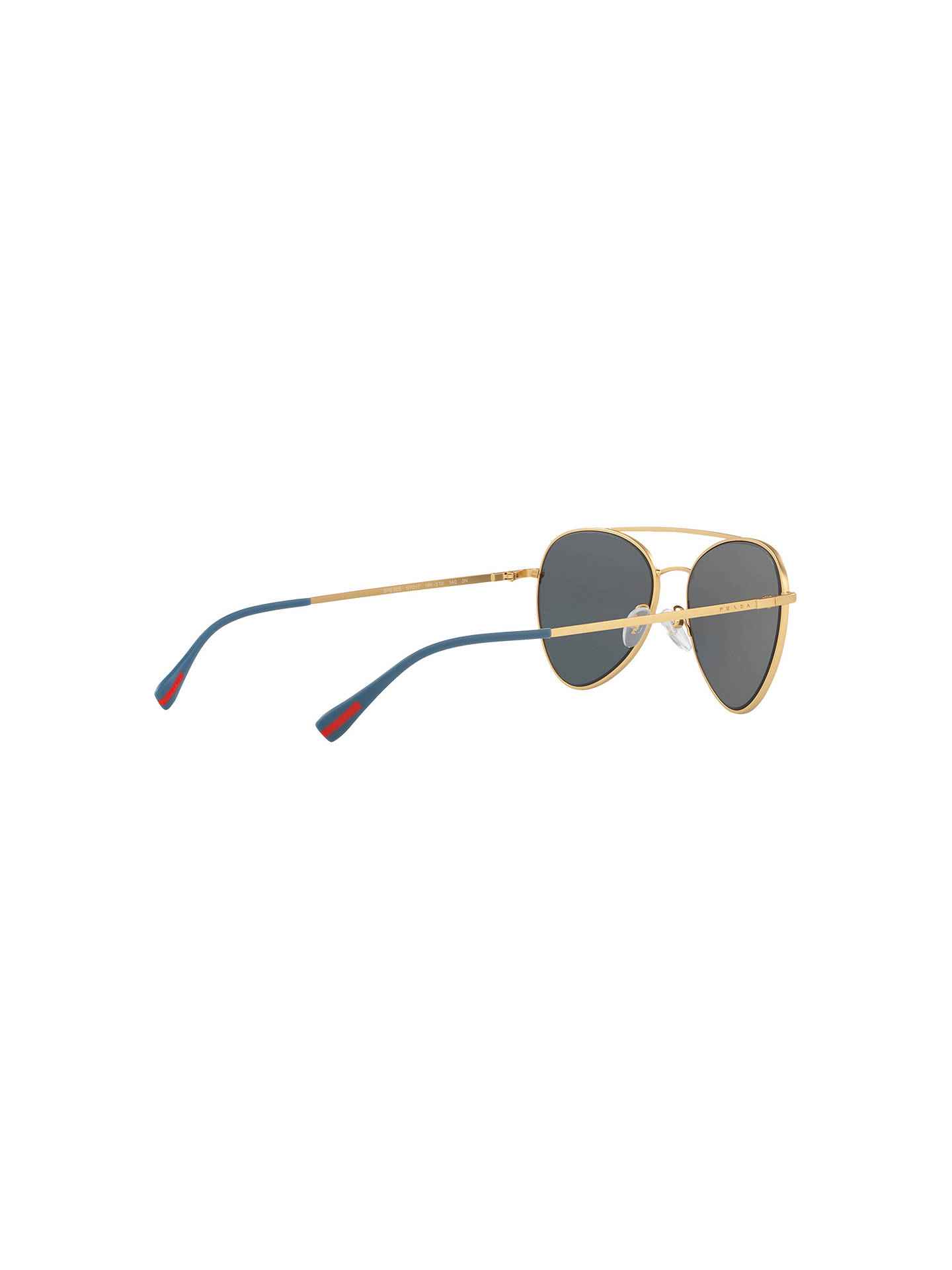 Buy Prada PS 50SS Oval Sunglasses, Gold/Mirror Lilac Online at johnlewis.com