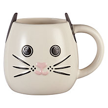 Buy John Lewis 3D Cat Mug Online at johnlewis.com