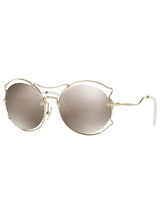 62165050be09 Miu Miu MU 50SS Geometric Sunglasses
