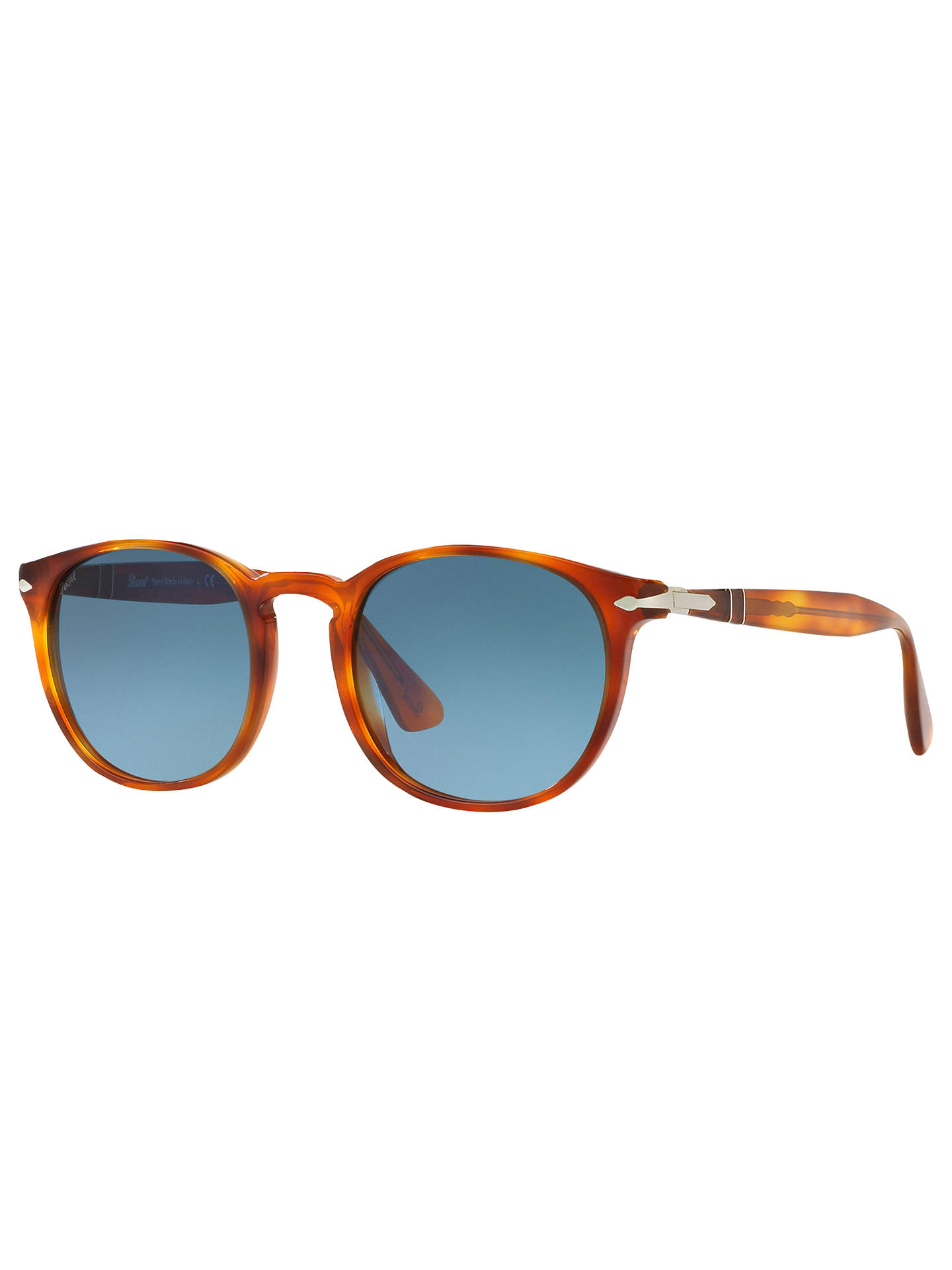 41f1fadd97d2 Buy Persol PO3157S Terra di Siena Oval Sunglasses, Tortoise/Blue Gradient  Online at johnlewis ...