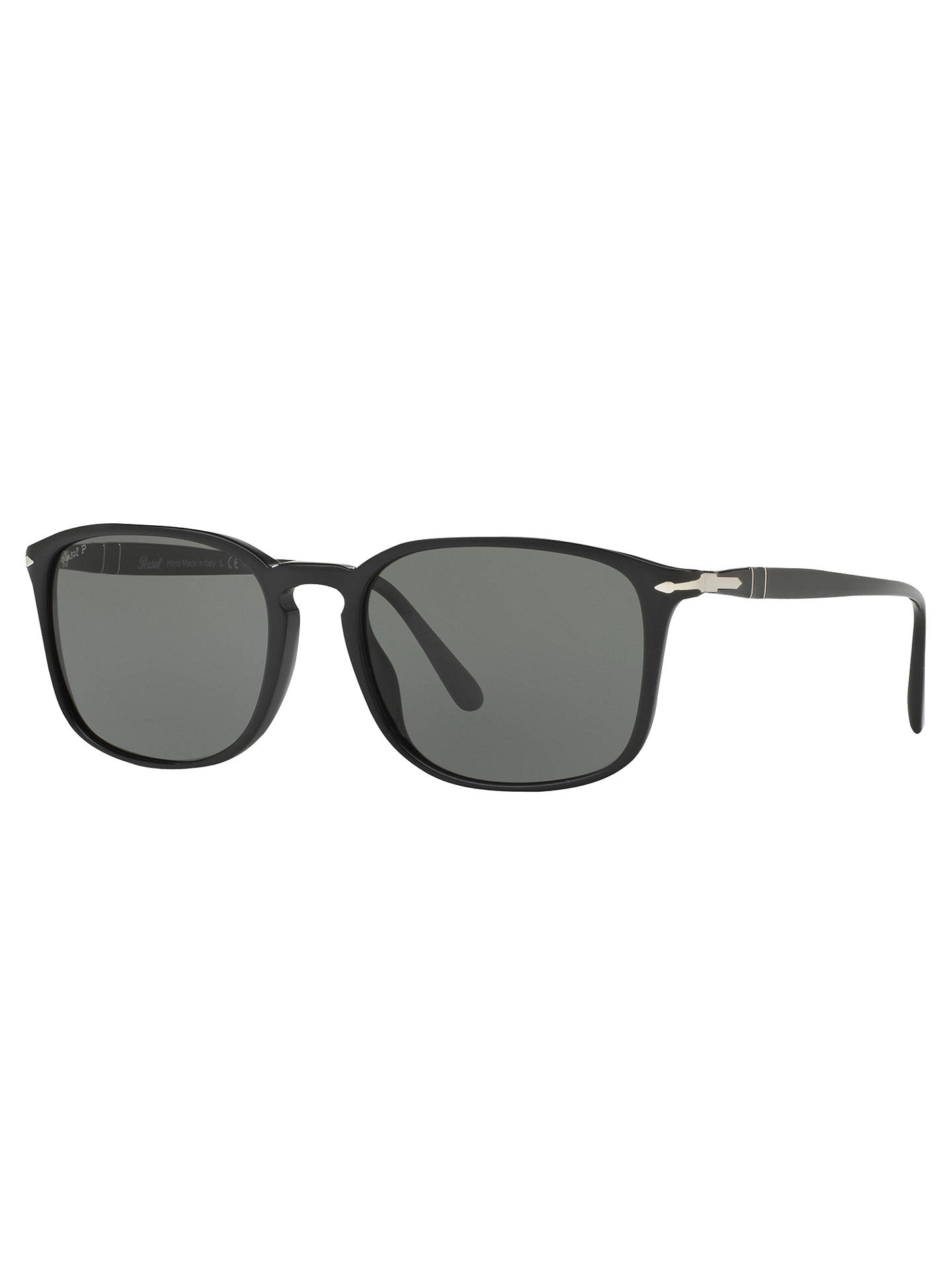 c8cfde7b13cc Buy Persol PO3158S Polarised Square Sunglasses, Black/Grey Online at  johnlewis.com ...