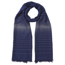 Buy Jacques Vert Two Tone Scarf, Dark Blue Online at johnlewis.com