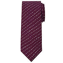 Buy Calvin Klein Broken Stripe Silk Tie, Burgundy Online at johnlewis.com