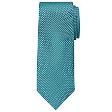 Buy Calvin Klein Semi Plain Silk Tie, Aqua Online at johnlewis.com