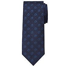 Buy Calvin Klein CK Logo Silk Tie, Navy Online at johnlewis.com