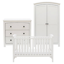 Buy Silver Cross Ashby Style Dresser, Cotbed and Wardrobe Set, White Online at johnlewis.com