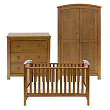 Buy Silver Cross Ashby Dresser, Cotbed and Wardrobe Set, Warm Light Walnut Online at johnlewis.com