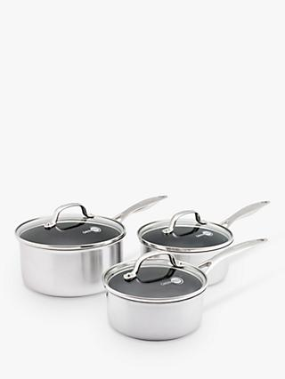 GreenPan Elements Non-Stick Lidded Saucepan Set, 3 Piece