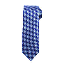 Buy John Lewis Geo Arrow Woven Silk Tie, Navy/Blue Online at johnlewis.com