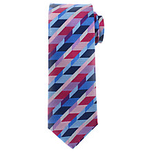 Buy John Lewis Cube Woven Silk Tie, Purple/Pink/Blue Online at johnlewis.com