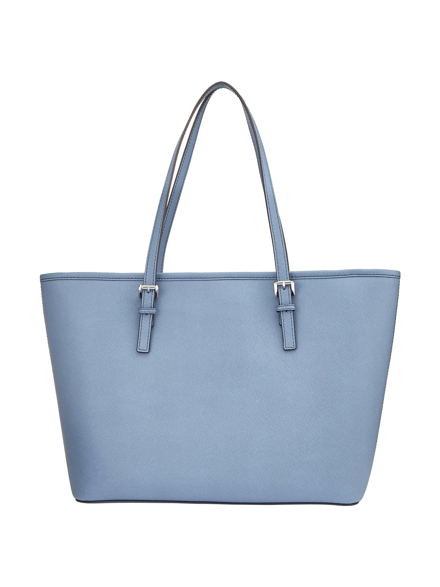 24c258052729 ... Buy MICHAEL Michael Kors Jet Set Travel Top Zip Leather Tote Bag, Denim  Online at ...