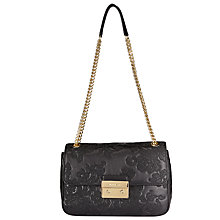 Buy MICHAEL Michael Kors Lace Sloan Small Leather Chain Shoulder Bag, Black Online at johnlewis.com