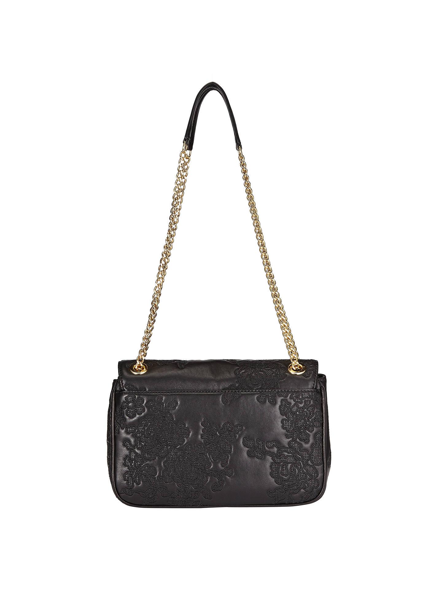 8f37866699b8 ... czech buymichael michael kors lace sloan small leather chain shoulder  bag black online at johnlewis.