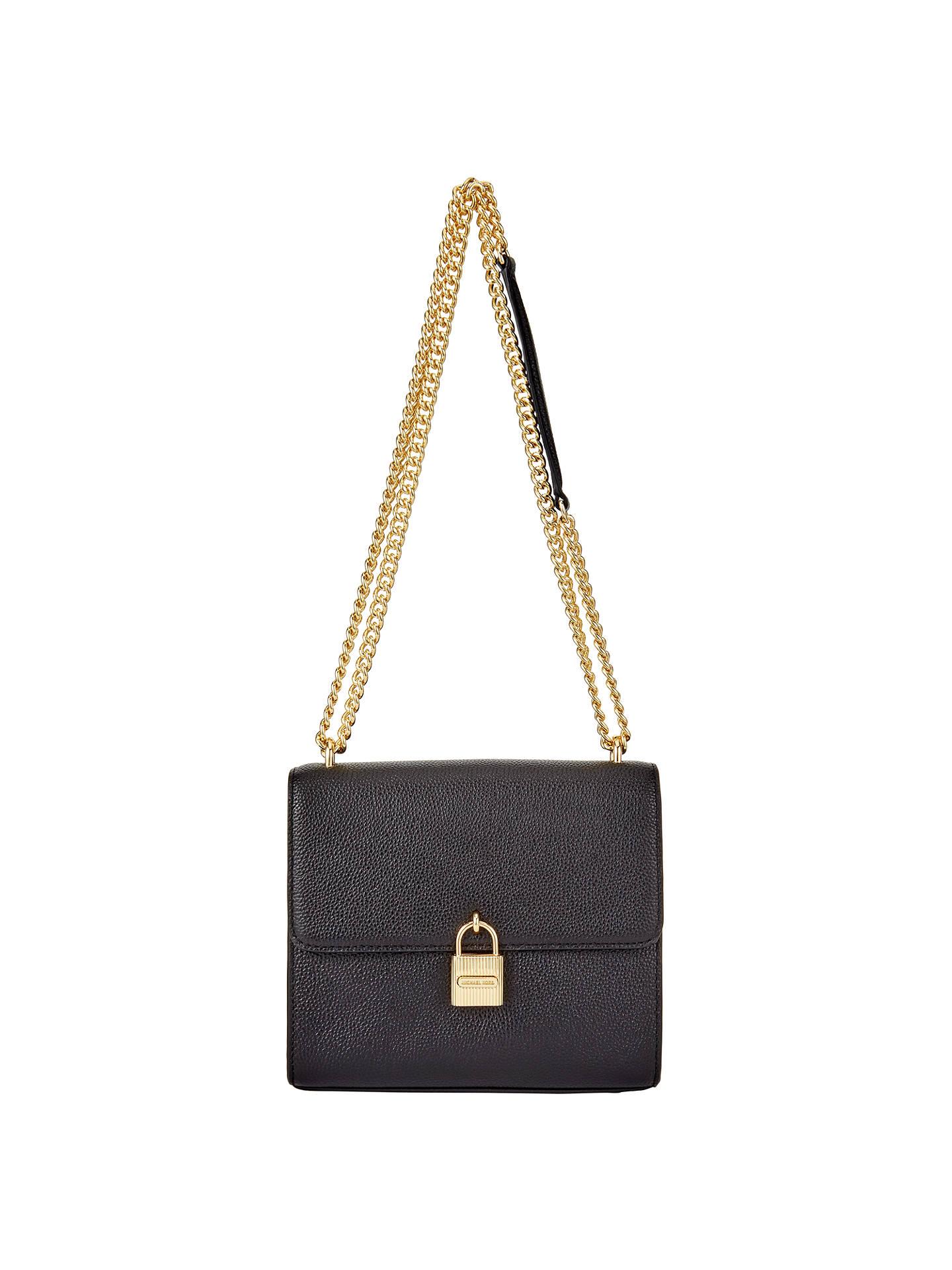 a434e3ed0749 Buy MICHAEL Michael Kors Mercer Large Leather Messenger Bag, Black Online  at johnlewis.com ...
