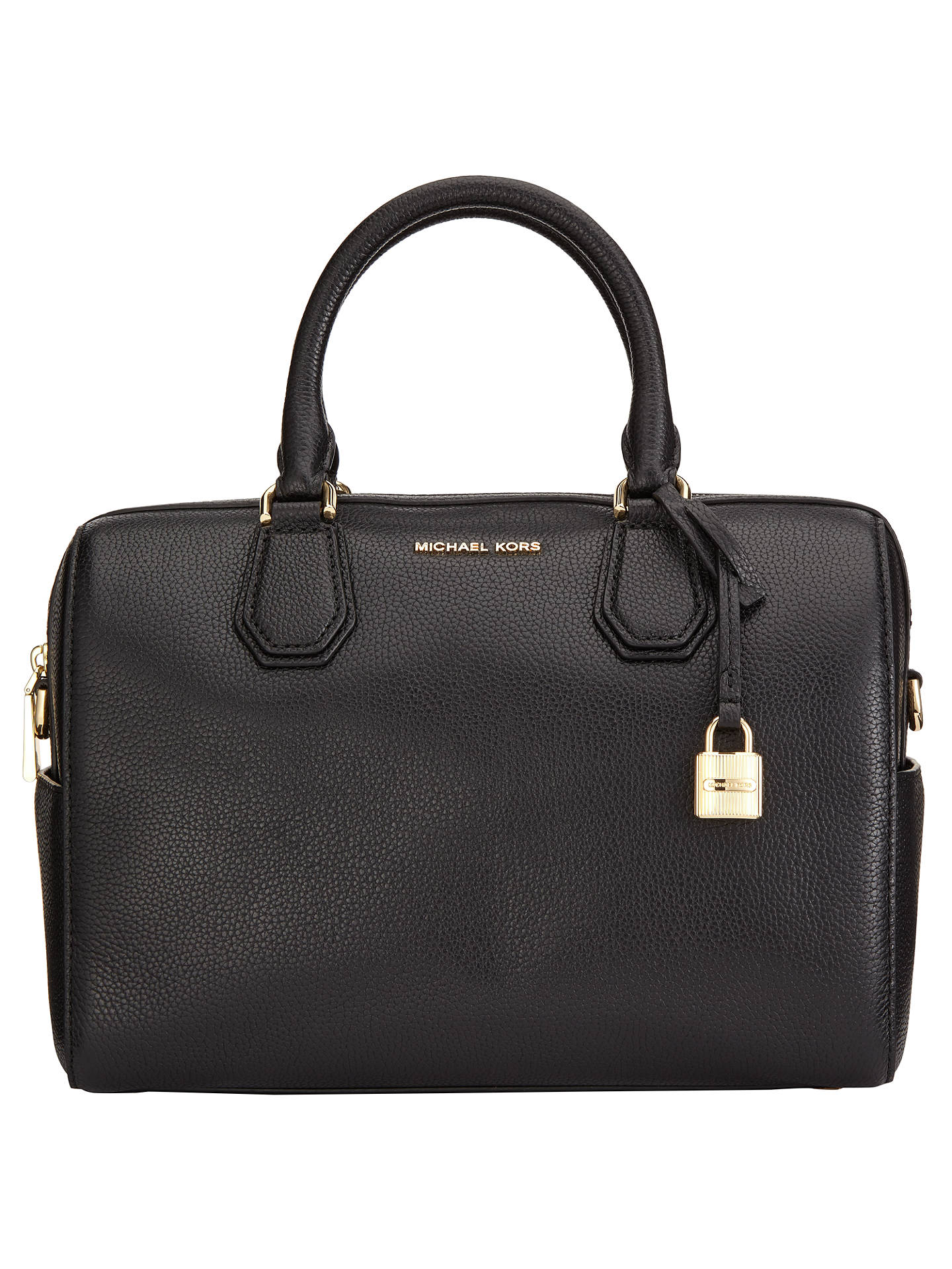 0b11f40244b5 Buy MICHAEL Michael Kors Mercer Medium Duffle Weekend Bag, Black Online at  johnlewis.com ...