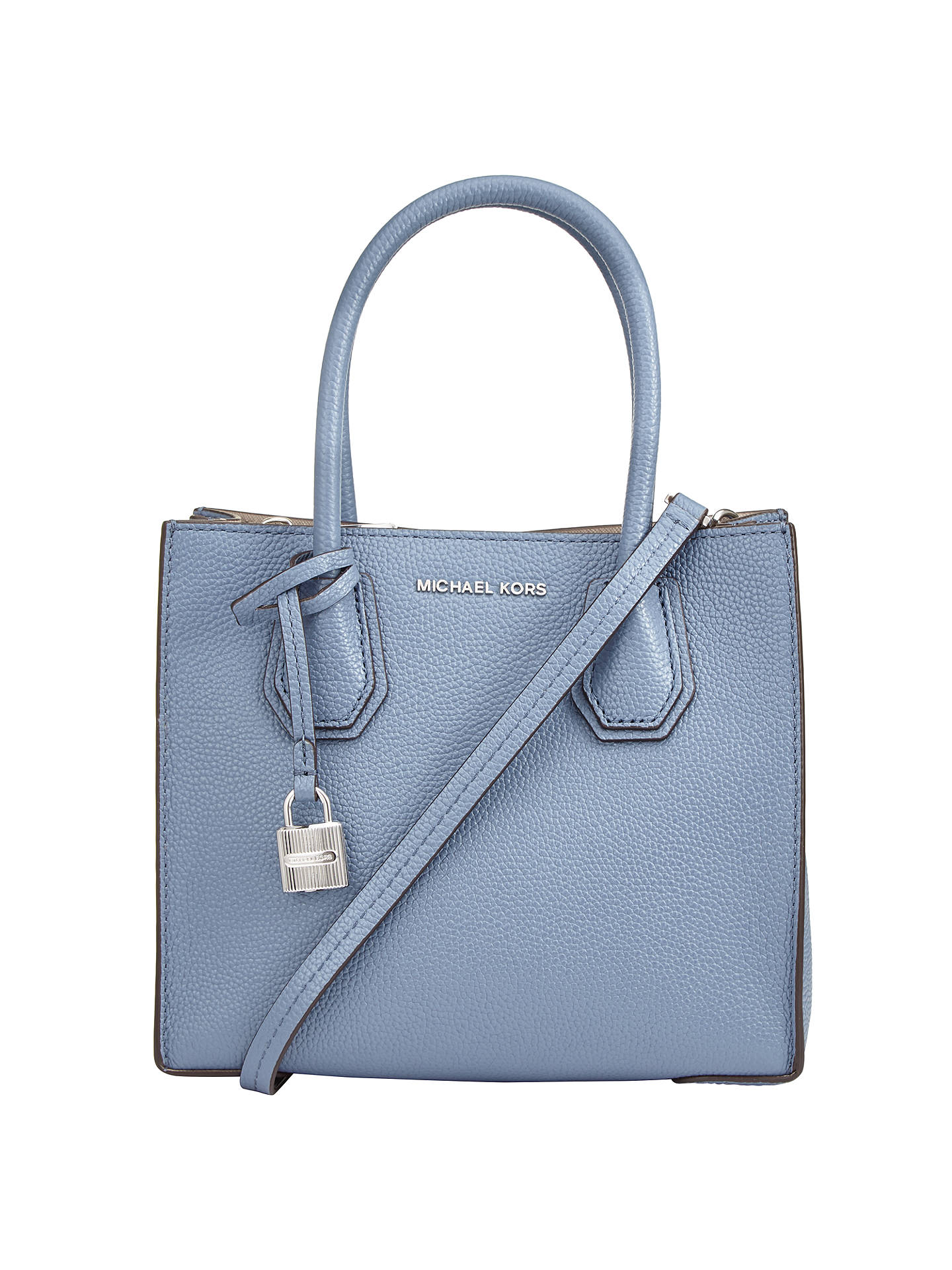 fda052b8c4b3 Buy MICHAEL Michael Kors Mercer Leather Messenger Bag, Denim Online at  johnlewis.com ...