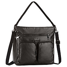 Buy Kipling Tasmo Shoulder Bag, Metallic Black Online at johnlewis.com