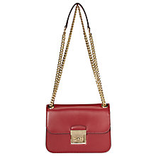 Buy MICHAEL Michael Kors Sloan Editor Medium Leather Chain Shoulder Bag Online at johnlewis.com