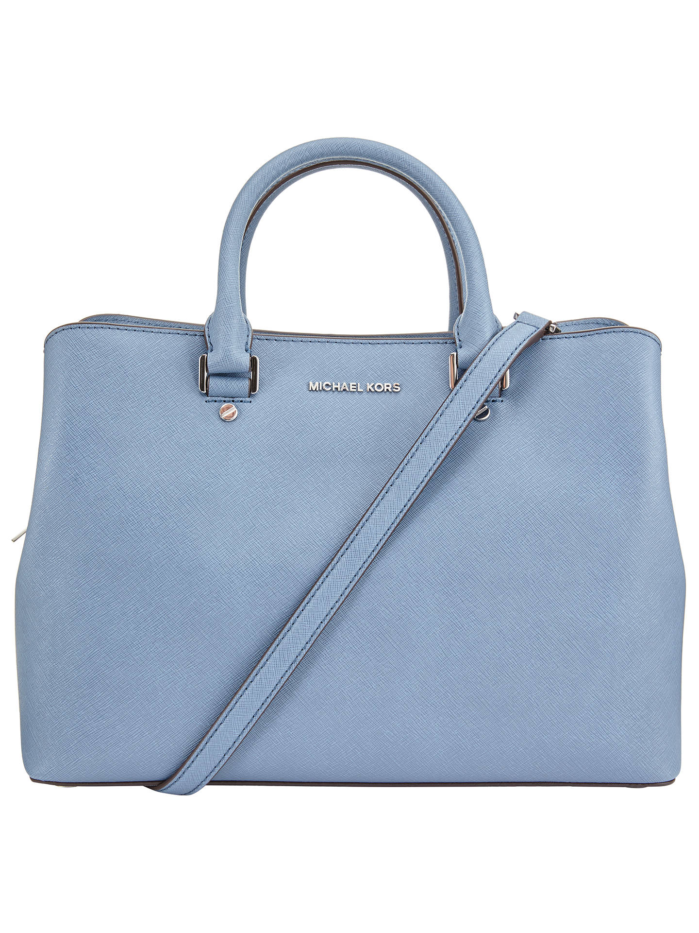 3a71cc9045db Buy MICHAEL Michael Kors Savannah Large Leather Satchel, Denim Online at  johnlewis.com ...