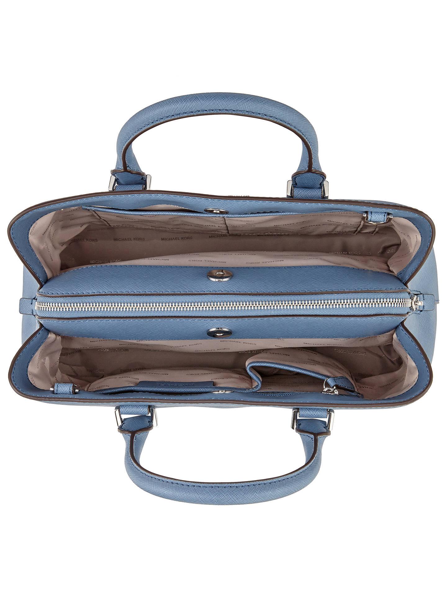 a1ab367f742c ... Buy MICHAEL Michael Kors Savannah Large Leather Satchel, Denim Online  at johnlewis.com ...