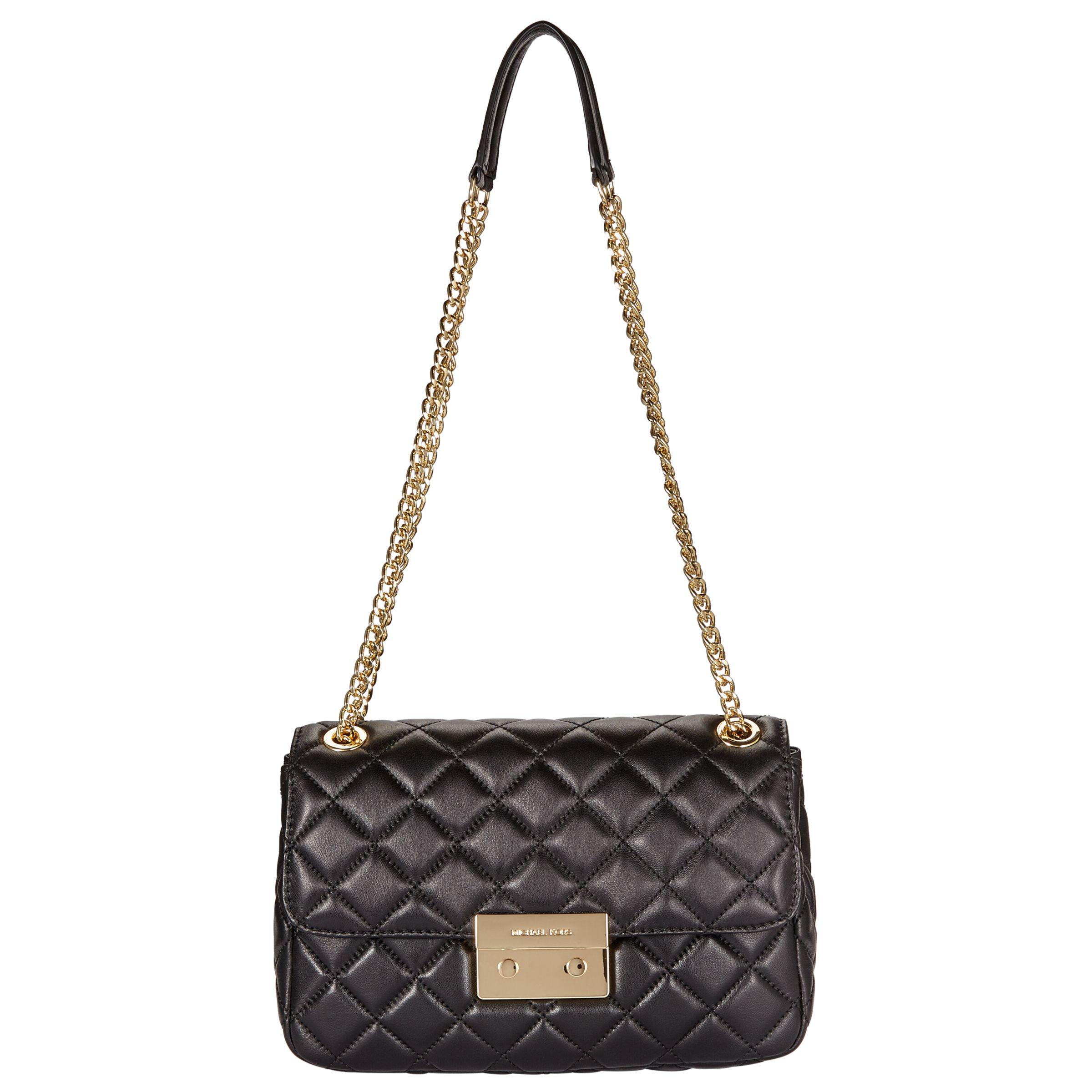 7cf4eb390 MICHAEL Michael Kors Sloan Large Leather Chain Shoulder Bag at John Lewis &  Partners