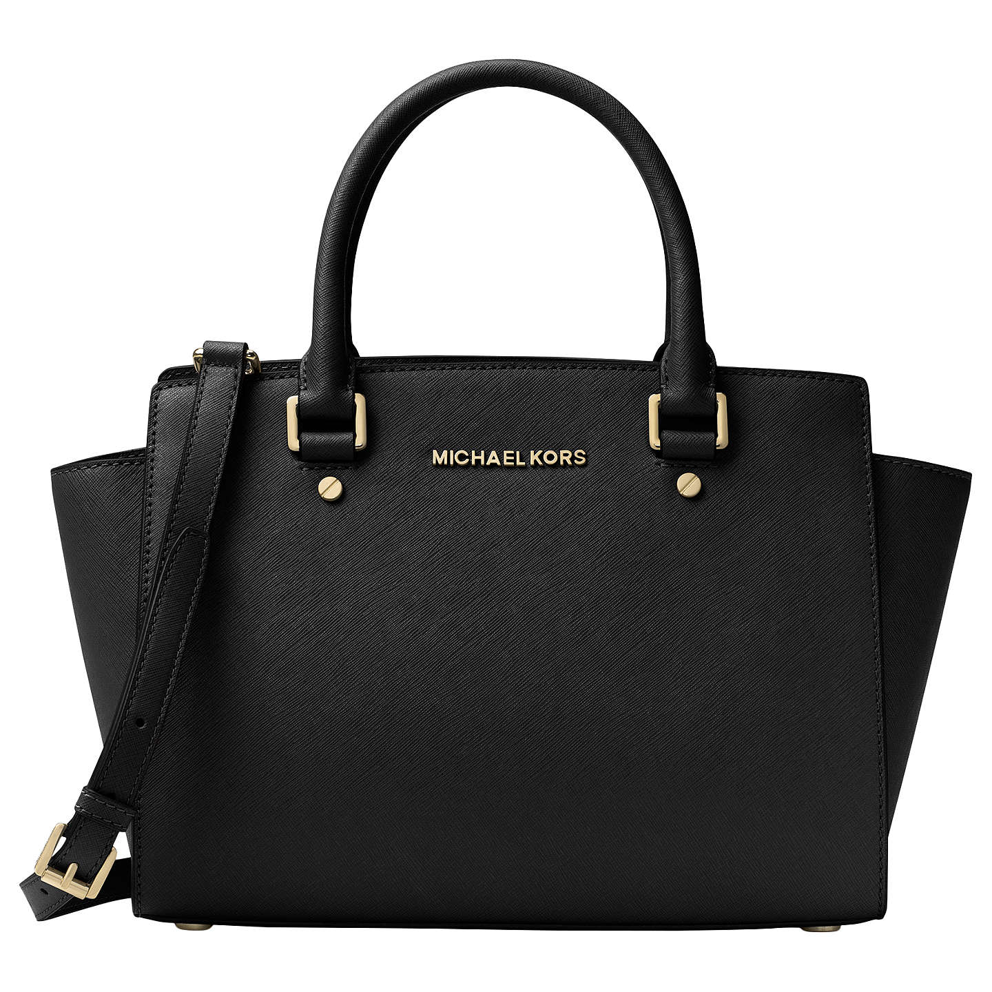 michael michael kors selma leather top zip satchel bag. Black Bedroom Furniture Sets. Home Design Ideas