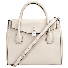 Buy MICHAEL Michael Kors Mercer Large Leather Shoulder Bag, Cement Online at johnlewis.com