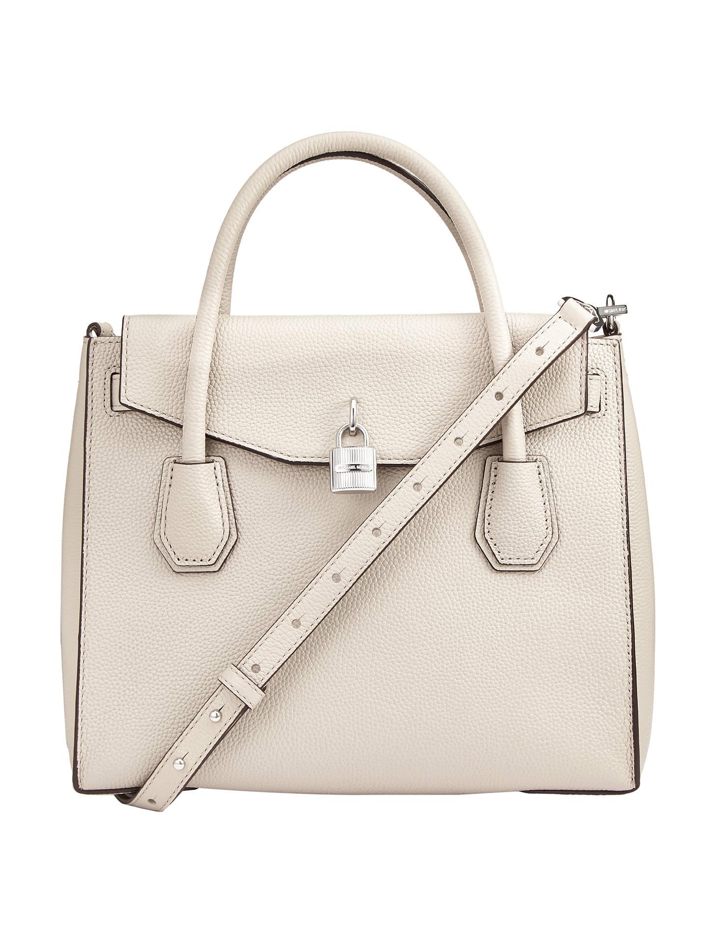 1ca5fcdd0172 Buy MICHAEL Michael Kors Mercer Large Leather Shoulder Bag, Cement Online  at johnlewis.com ...