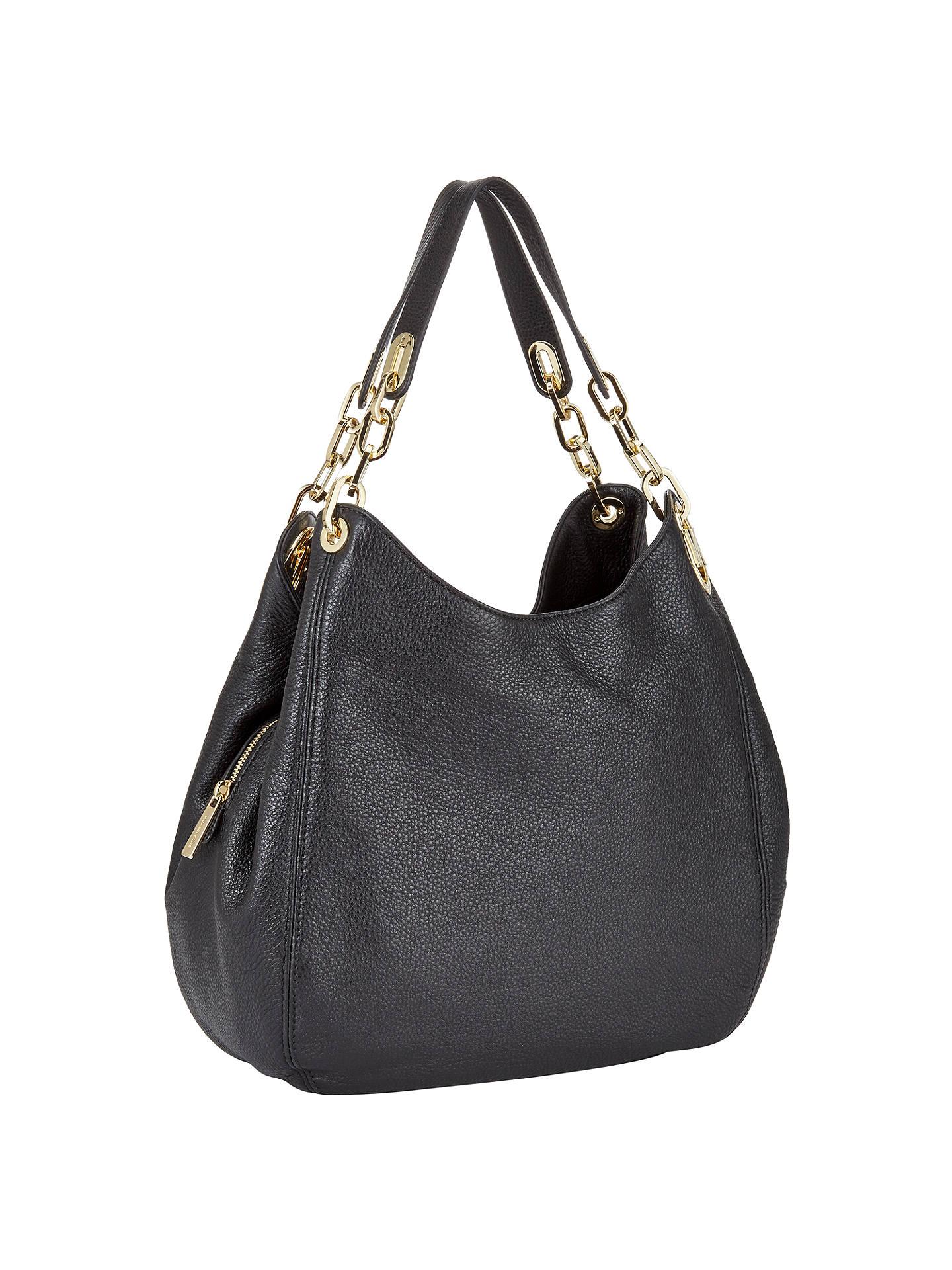 dc7c371d6b5 Buy MICHAEL Michael Kors Fulton Large Leather Shoulder Tote Bag, Black  Online at johnlewis.
