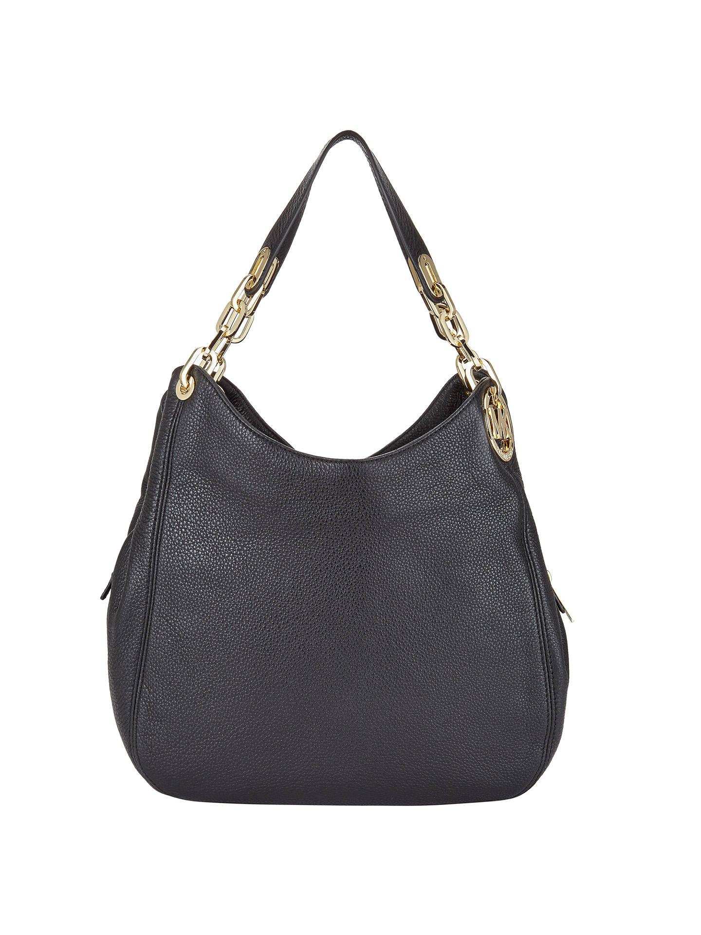 dd4a04618074 Buy MICHAEL Michael Kors Fulton Large Leather Shoulder Tote Bag, Black  Online at johnlewis.