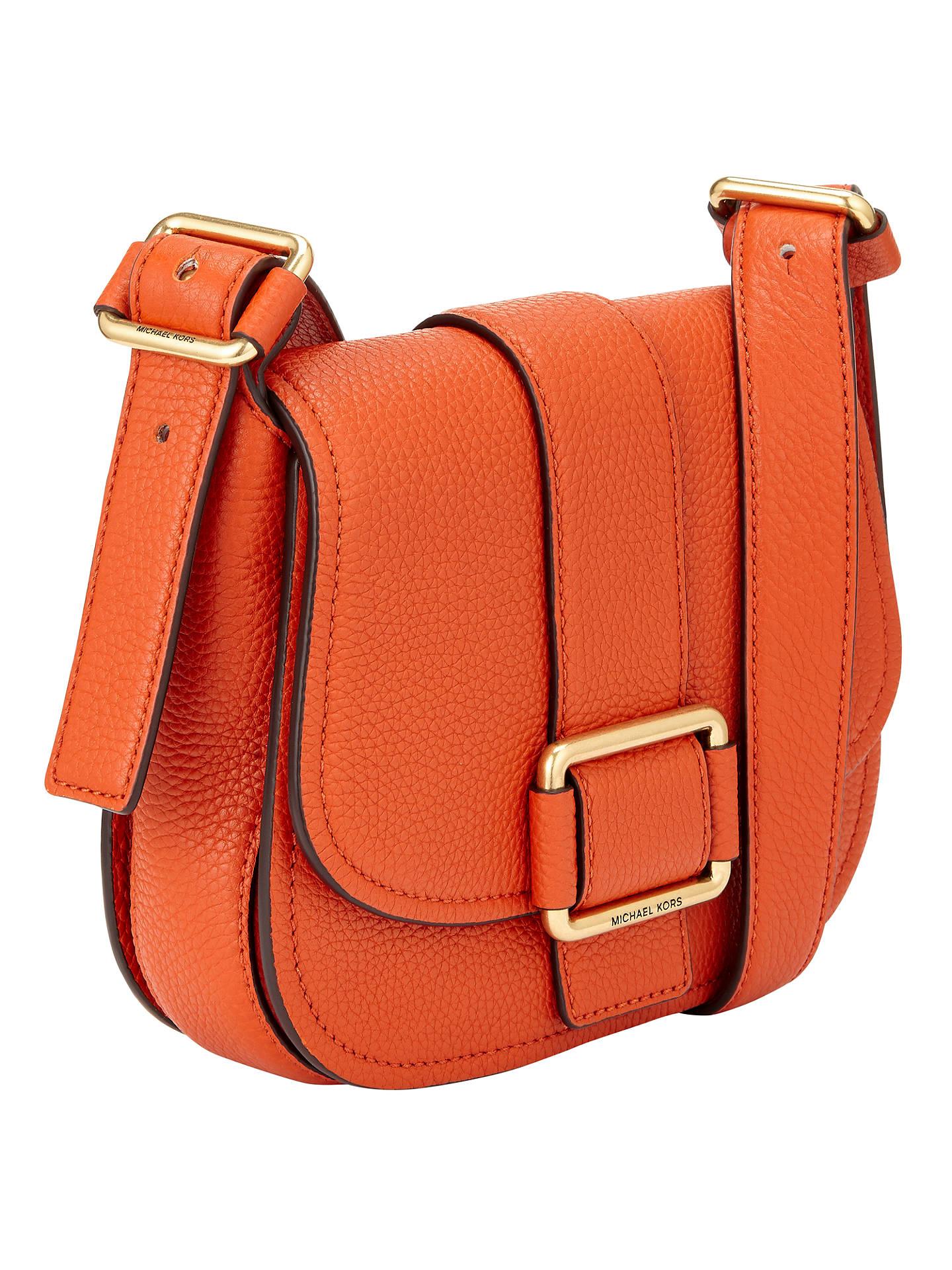 69a2cb30b7411 MICHAEL Michael Kors Maxine Medium Leather Across Body Bag at John ...