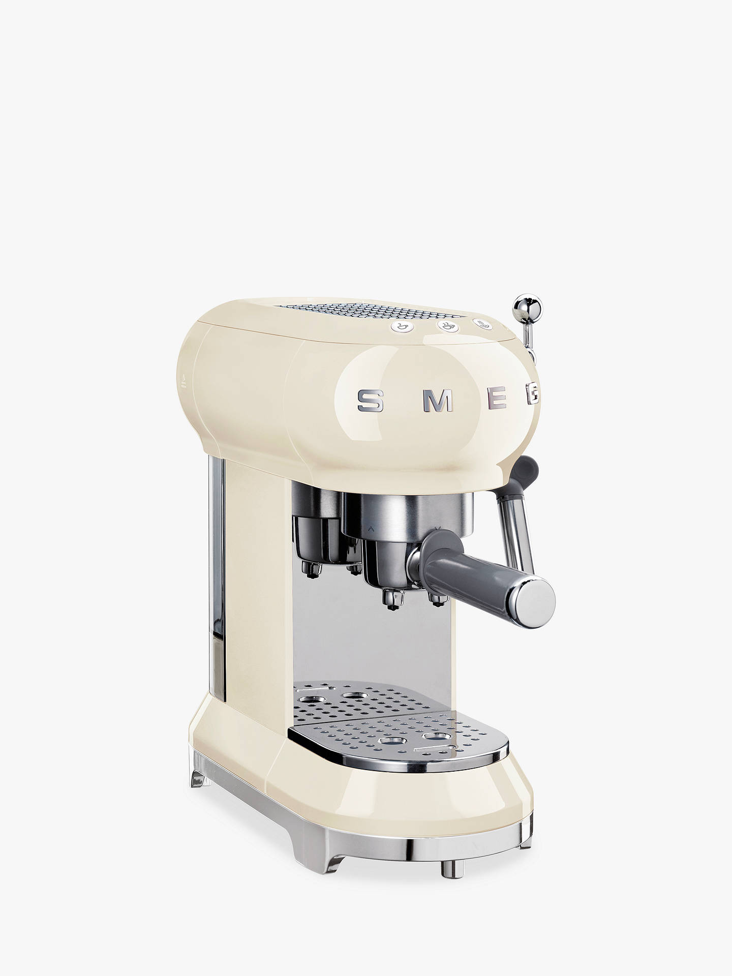 Buy Smeg ECF01CR Coffee Machine, Cream Online at johnlewis.com