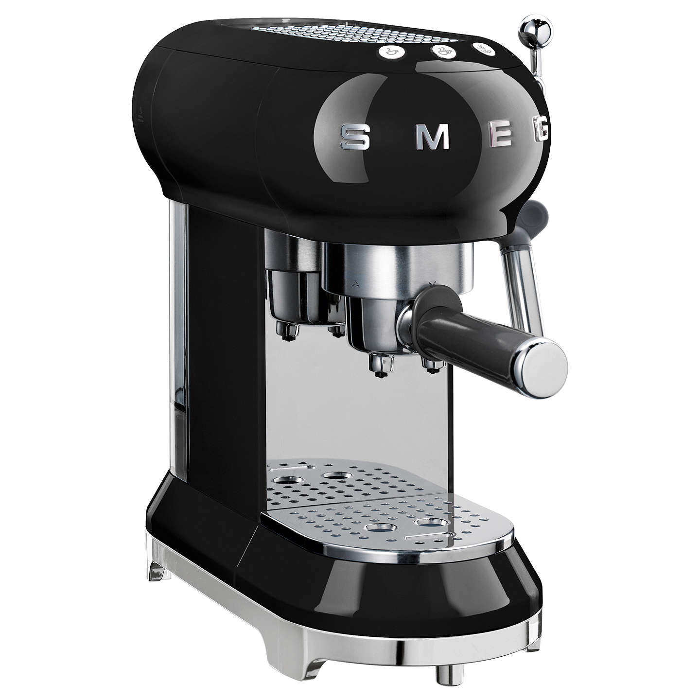 Smeg Ecf01bl Coffee Machine Black Online At Johnlewis