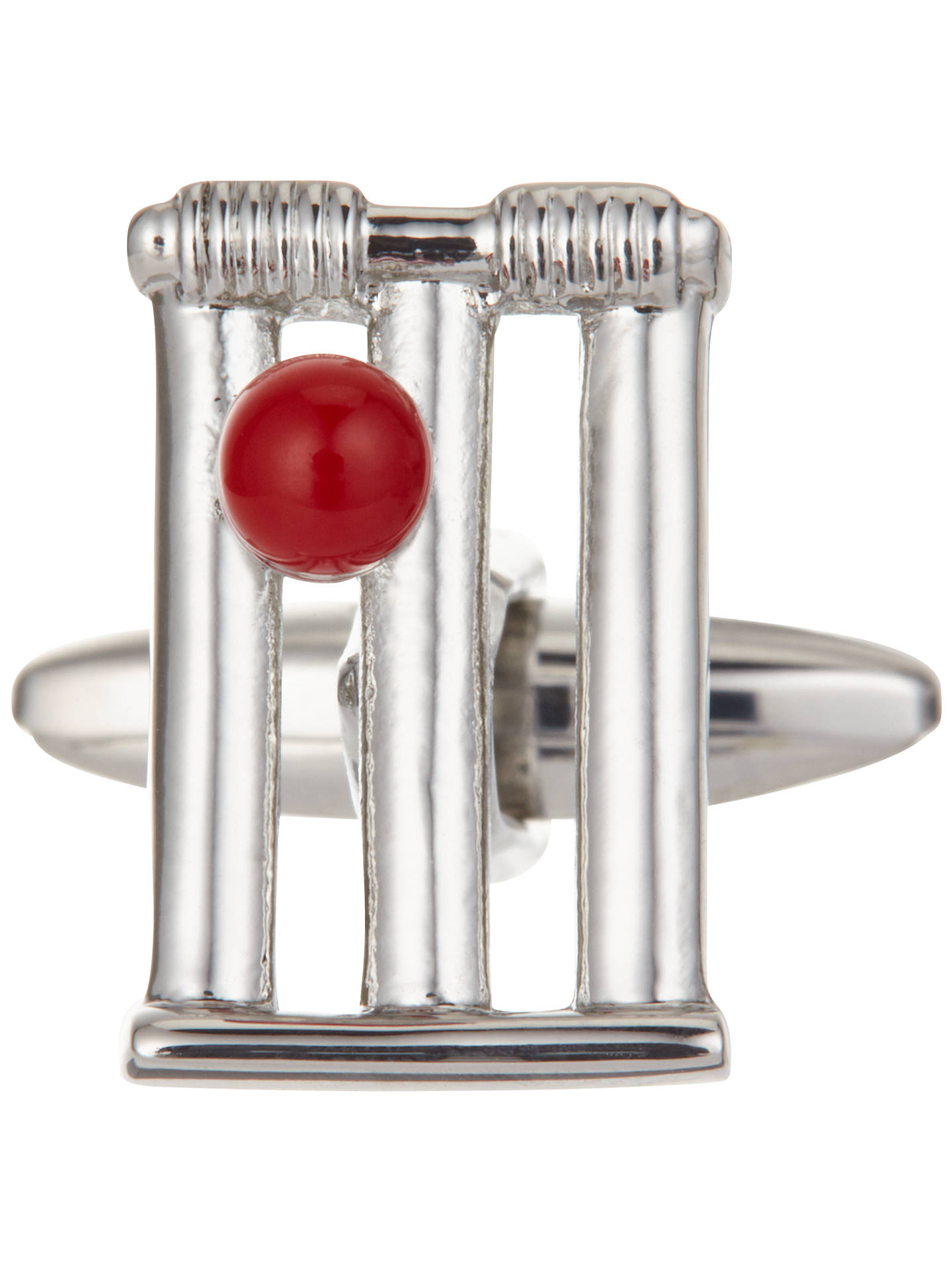 Buy John Lewis & Partners Cricket Cufflinks, Silver Online at johnlewis.com