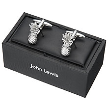 Buy John Lewis Pineapple Cufflinks, Silver Online at johnlewis.com