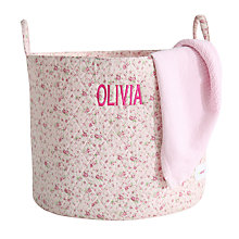 Buy My 1st Years Personalised Ditsy Storage Bag, Pink Online at johnlewis.com