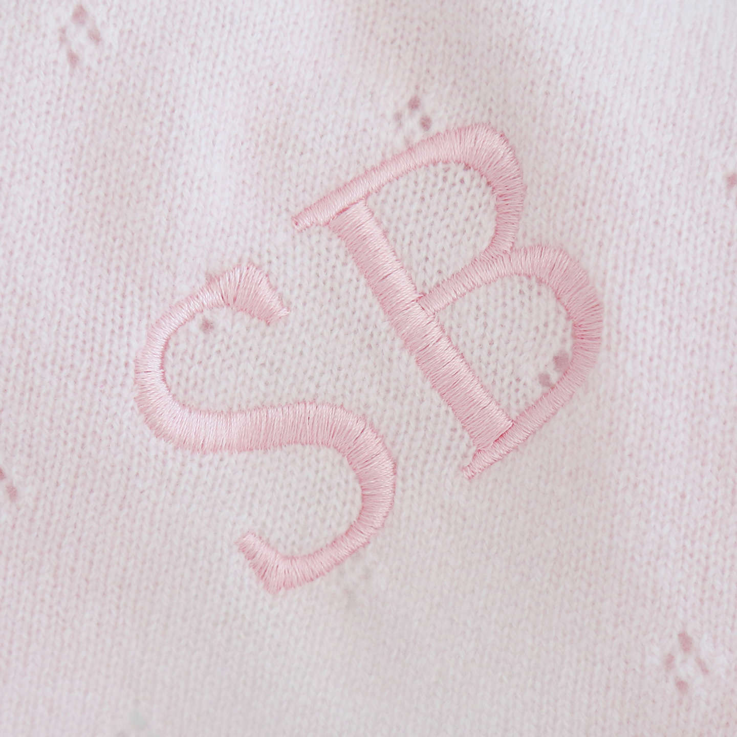 BuyMy 1st Years Baby Personalised Cashmere Blanket, Pink Online at johnlewis.com
