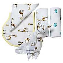 Buy Aden + Anais Swaddle Baby Jungle Jam Gift Set Online at johnlewis.com
