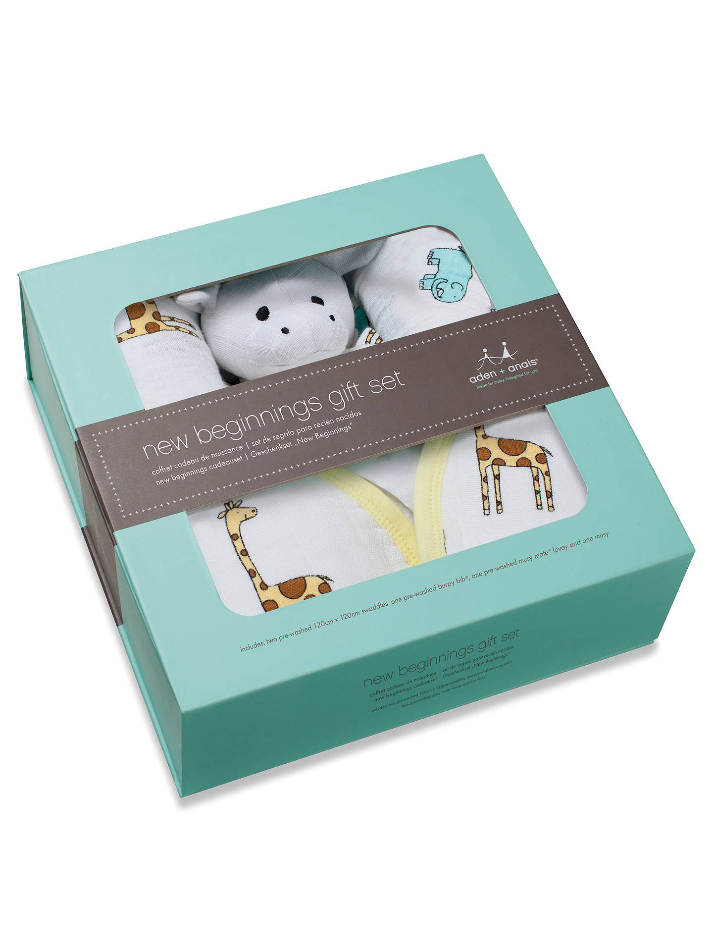 Aden Anais Swaddle Baby Jungle Jam Gift Set At John Lewis Partners