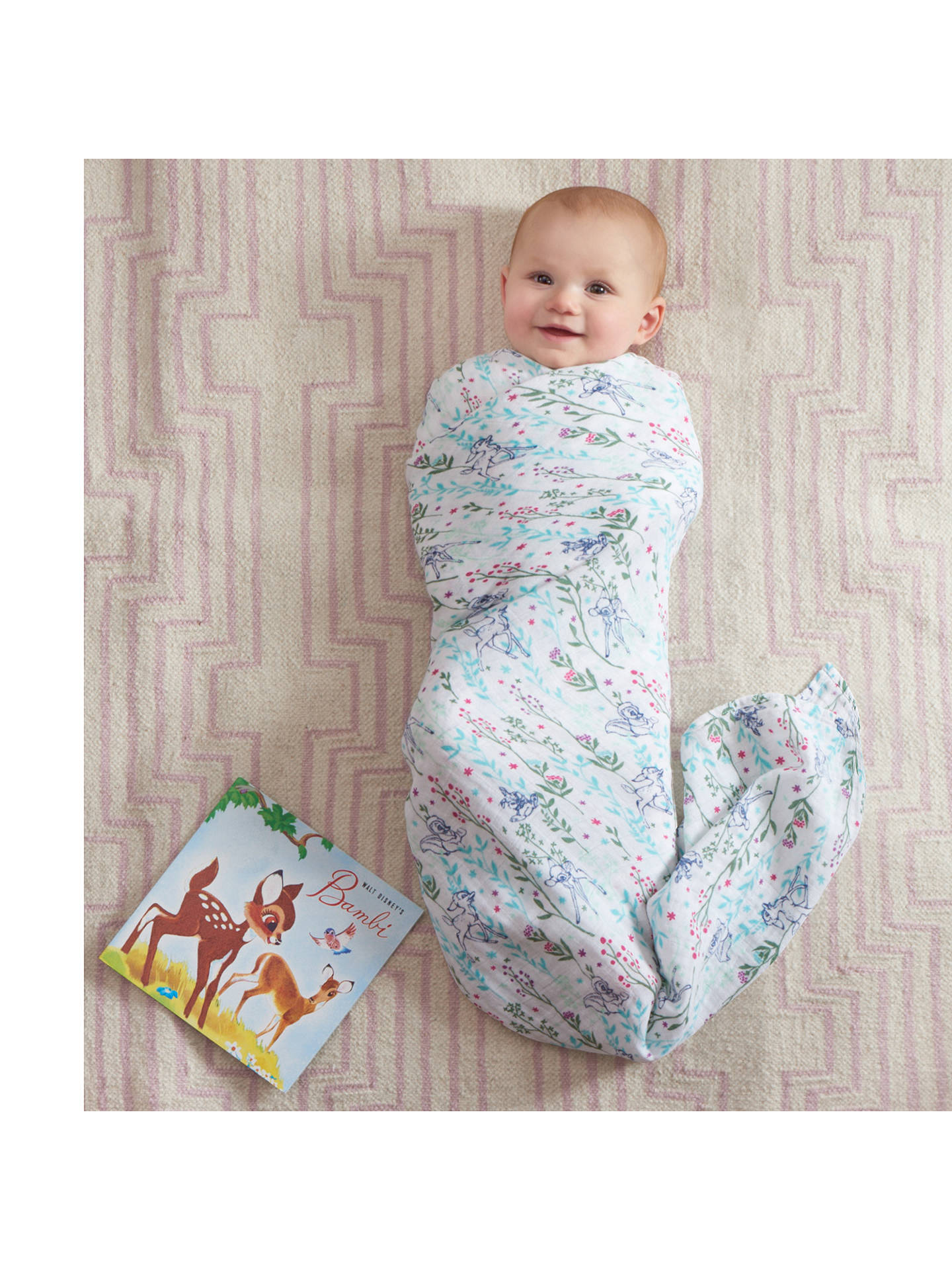 Buyaden + anais Disney Bambi Baby Swaddle Blanket, Pack of 4 Online at johnlewis.com