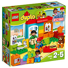 Buy LEGO DUPLO 10833 Pre-School Construction Online at johnlewis.com