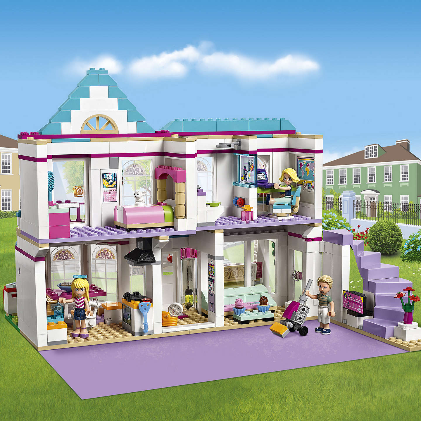 lego friends 41314 stephanie 39 s house at john lewis. Black Bedroom Furniture Sets. Home Design Ideas