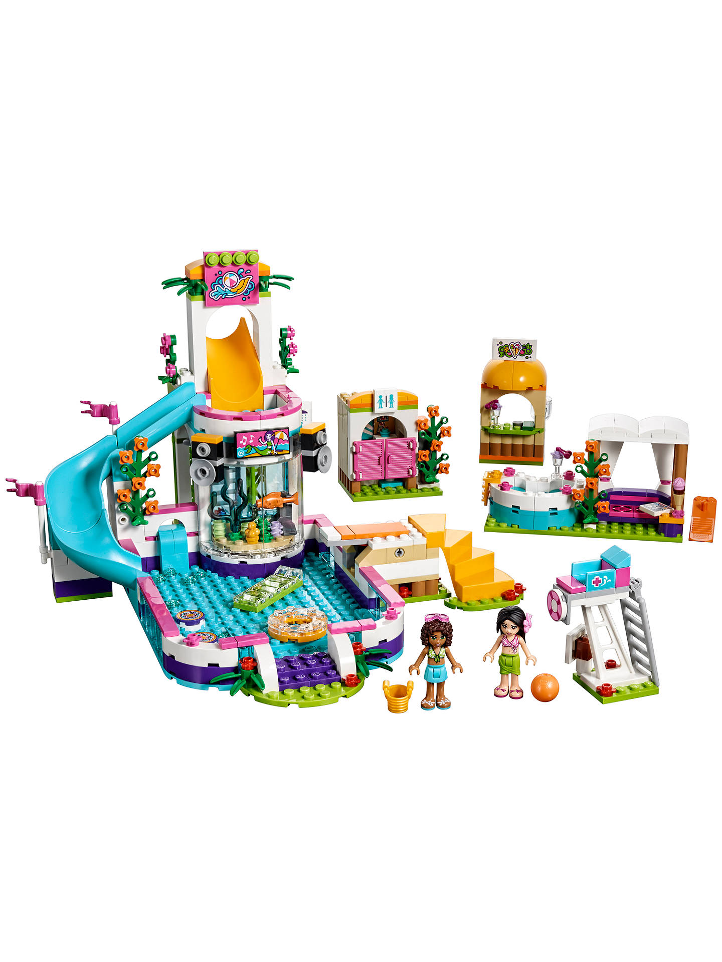 BuyLEGO Friends 41313 Heartlake Summer Pool Online at johnlewis.com
