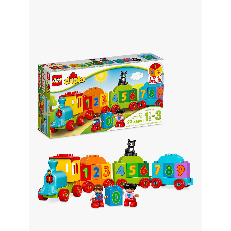 Lego Duplo 10847 Number Train At John Lewis