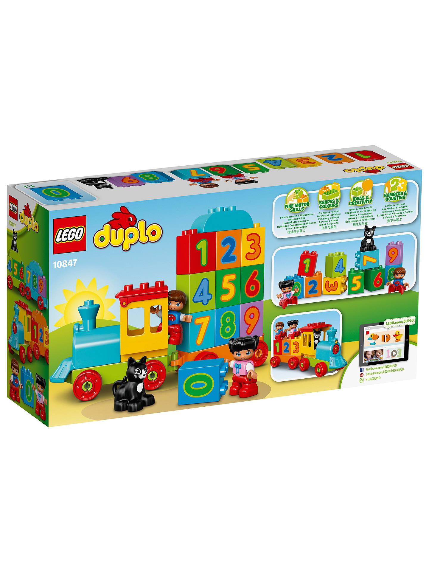Lego Duplo 10847 Number Train At John Lewis Partners