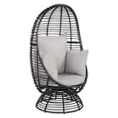 This Review Is FromJohn Lewis Dakara (Fusion) Cabana Swivel Pod Outdoor  Chair, Black.