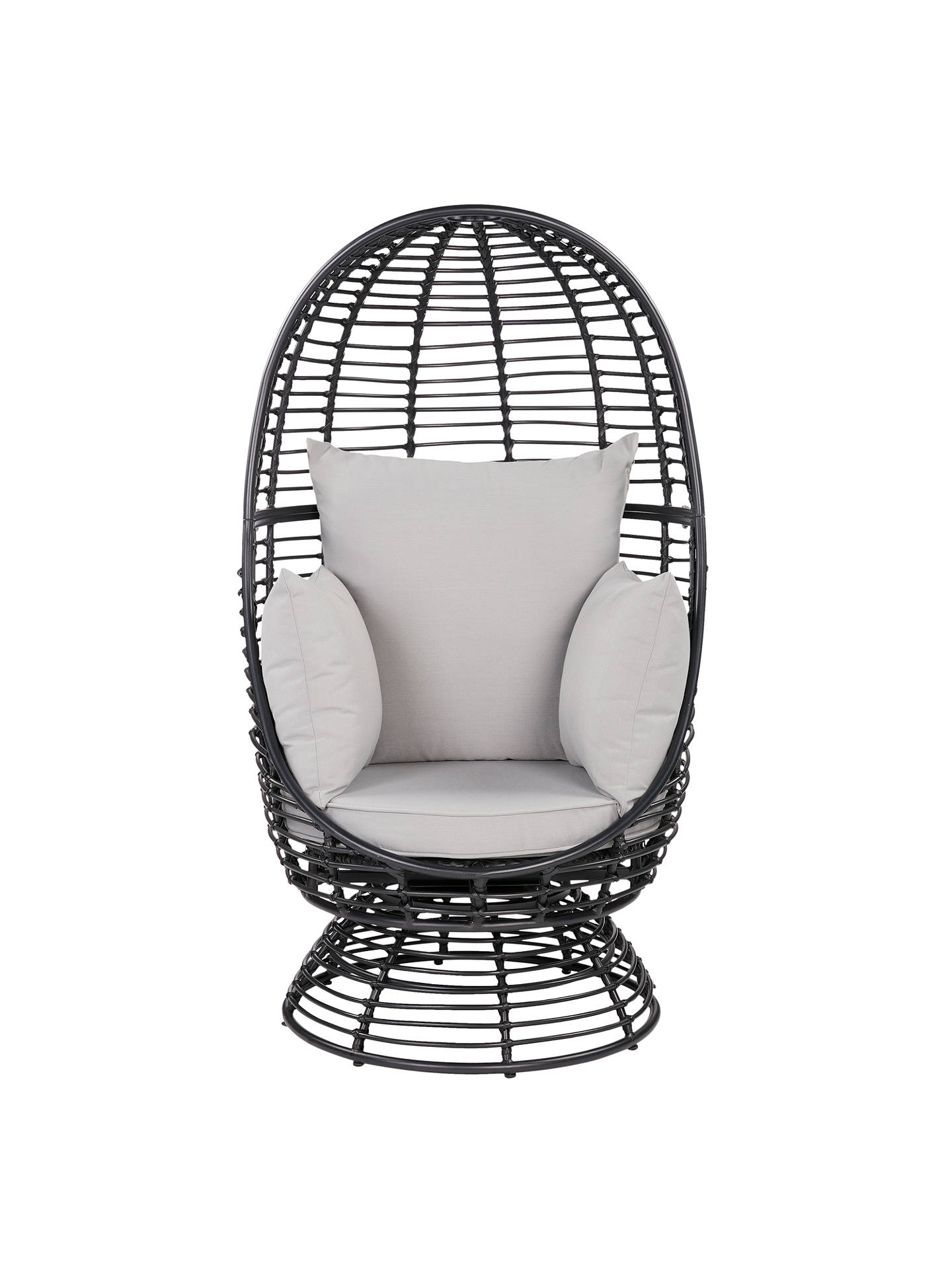 Buy John Lewis & Partners Cabana Swivel Pod Garden Chair, Black Online at johnlewis.com