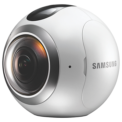 Samsung Gear 360 Action Camcorder, 360° Recording, High Resolution, Wi-Fi, Bluetooth, Dust & Splash Resistant