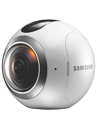 Buy Samsung Gear 360 Action Camcorder, 360° Recording, High Resolution, Wi-Fi, Bluetooth, Dust & Splash Resistant Online at johnlewis.com
